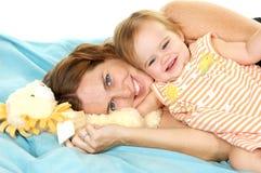 Enjoying Motherhood. Adorable Mother and Child, playing together Stock Image