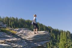 Enjoying the Mountain Sites Stock Photos