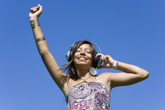 Enjoying music Stock Photography