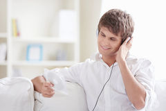 Enjoying the music Stock Photos