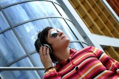 Enjoying music Royalty Free Stock Image
