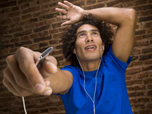 Enjoying the music Stock Photography