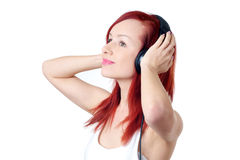 Enjoying music Stock Photos