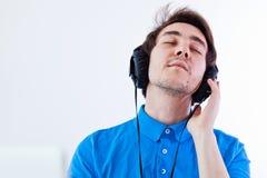 Enjoying music Stock Images
