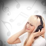 Enjoying music Royalty Free Stock Photo
