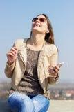 Enjoying in music Royalty Free Stock Image