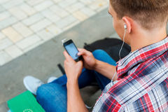 Enjoying music outdoors. Stock Photography