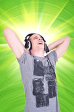 Enjoying The Music Royalty Free Stock Photography