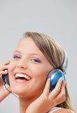 Enjoying music Stock Photos