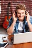 Enjoying music. Royalty Free Stock Photos