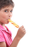 Enjoying my lollipop Stock Photo