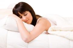 Enjoying my warm bed Stock Image