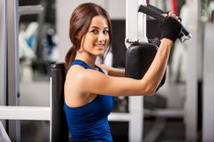 Enjoying my workout at the gym Royalty Free Stock Images
