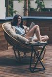 Enjoying nice time outdoors. Royalty Free Stock Image