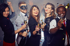 Enjoying Night with Friends stock photography