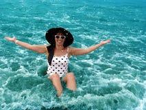 Enjoying the ocean Stock Image