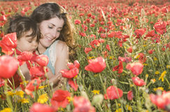 Enjoying one day with flowers Royalty Free Stock Image