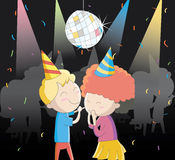 Enjoying the party. Cute cartoon illustration / EPS 10 Stock Photo