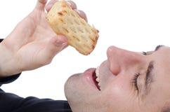 Enjoying Pastry Stock Image