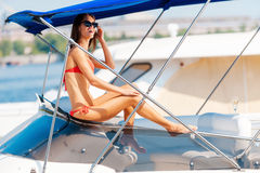 Enjoying perfect summer day. Royalty Free Stock Photography