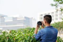 Enjoying photographing Stock Image