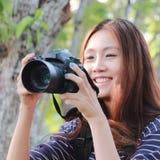 Enjoying photography Stock Images
