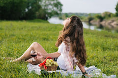 Enjoying picnic Royalty Free Stock Image