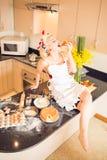 Enjoying piece of cake Royalty Free Stock Photography