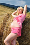 Enjoying of pregnance Stock Photo
