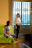 Enjoying pregnancy Royalty Free Stock Images