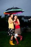 Enjoying Rains royalty free stock images