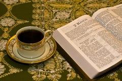 Enjoying Reading the Bible Stock Images