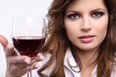 Enjoying red wine Royalty Free Stock Image