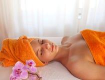 Enjoying a relaxing spa treatment Stock Photos