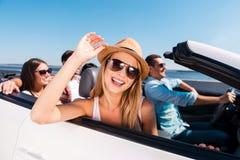 Enjoying road trip. Royalty Free Stock Images