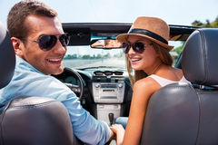Enjoying road trip together. Stock Photography