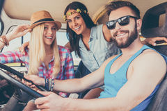 Enjoying roadtrip. Royalty Free Stock Image