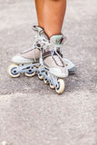Enjoying roller skating rollerblading on inline skates. Stock Image