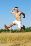 Enjoying running training Royalty Free Stock Photography
