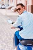 Enjoying scooter ride. Stock Photography