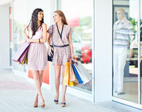 Enjoying Shopping Stock Photos