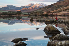 Enjoying Snowdon Stock Image
