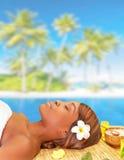 Enjoying spa resort Royalty Free Stock Photos