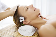 Enjoying spa treatment royalty free stock image