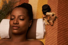 Enjoying spa treatment Royalty Free Stock Images