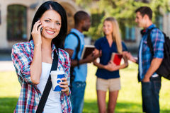 Enjoying student life. Royalty Free Stock Photo