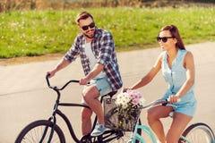 Enjoying the summer bike ride. Royalty Free Stock Photo