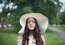 Enjoying summer stock photography