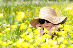 Enjoying the summer feelings. Royalty Free Stock Photography