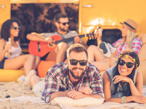 Enjoying summer with friends. Stock Photography